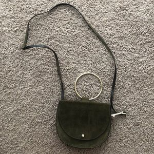 Theory suede ring purse
